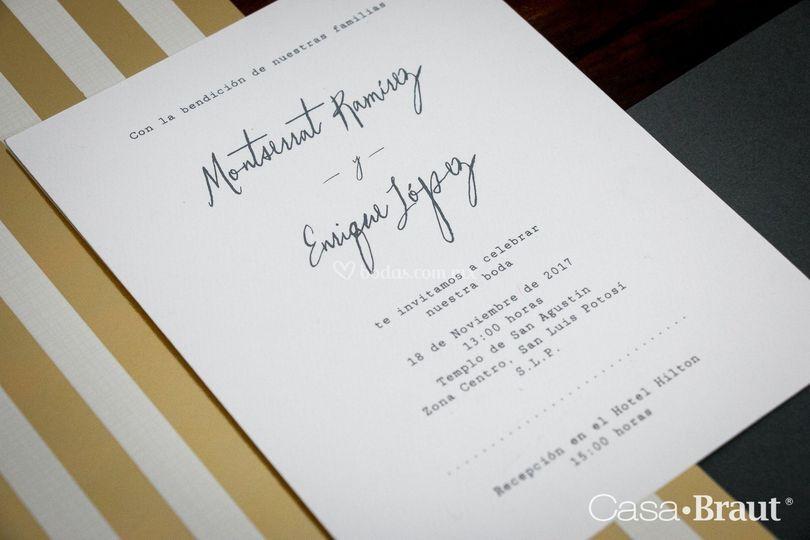 Invitación en serigrafía