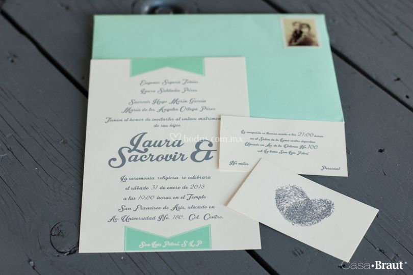 Invitaciones Casa Braut