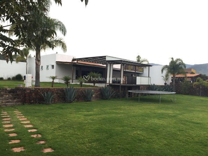 villa real terraza u jardn