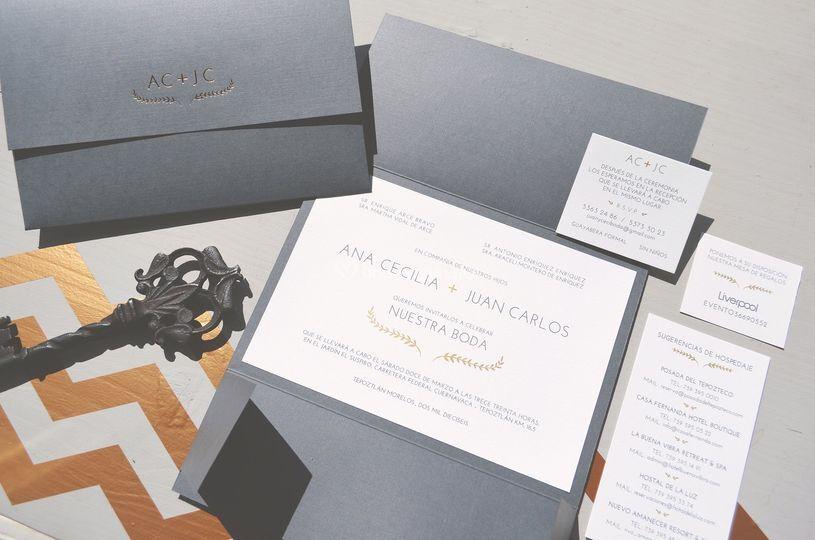 Pikut bolsas de kraft invitaciones invitacin con hot stamping altavistaventures Image collections