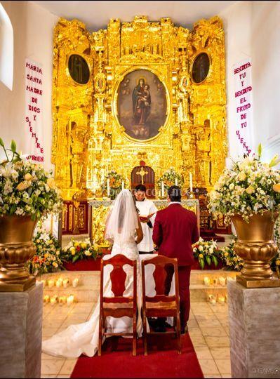 Boda destino retablos de oro