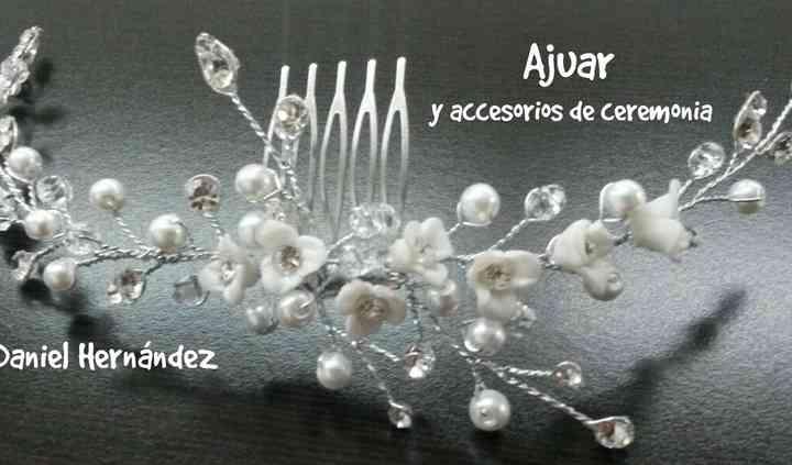 Tiara con perlas
