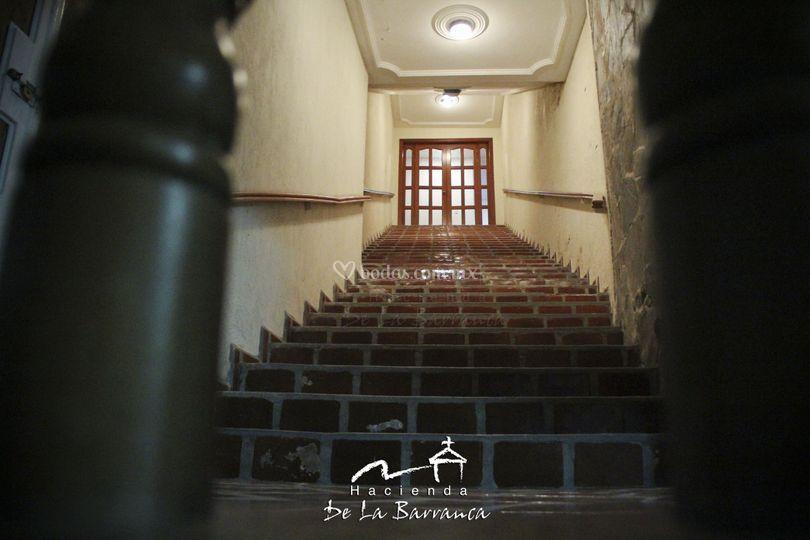 Escaleras a la Capilla