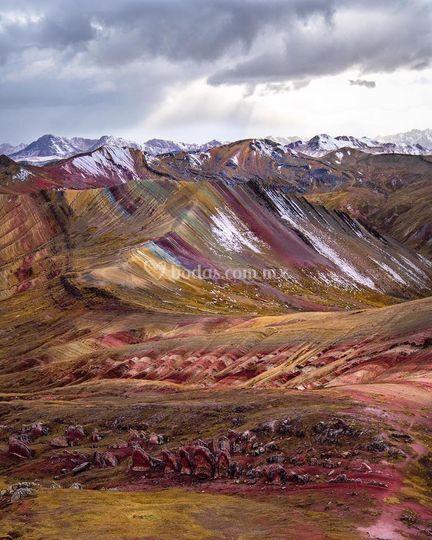 Montañas de colores en peru