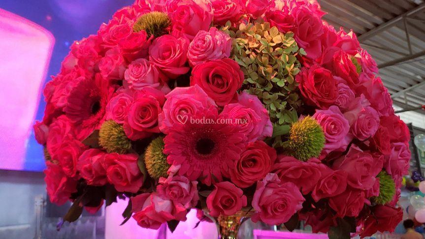 Flores tonos rosa