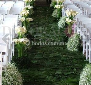 Paso de los novios de Decoración Floral