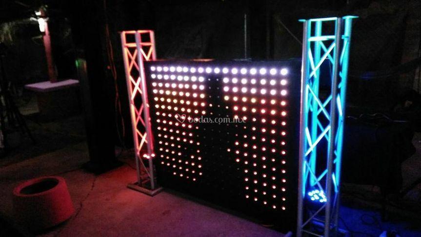 Booth dj iluminada