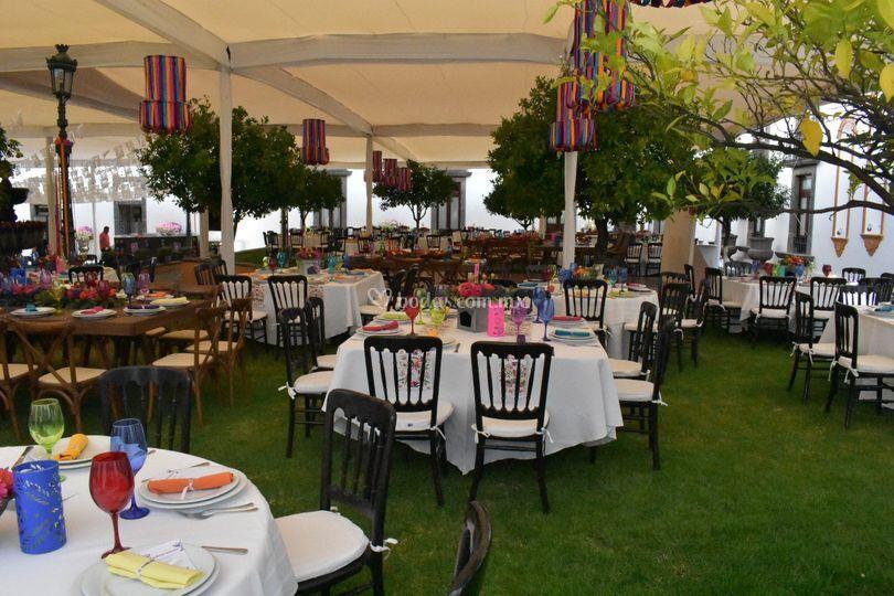 Banquete jardín principal