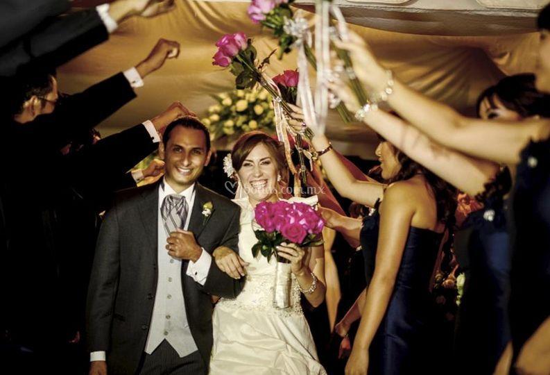 Recibimiento de los recién casados