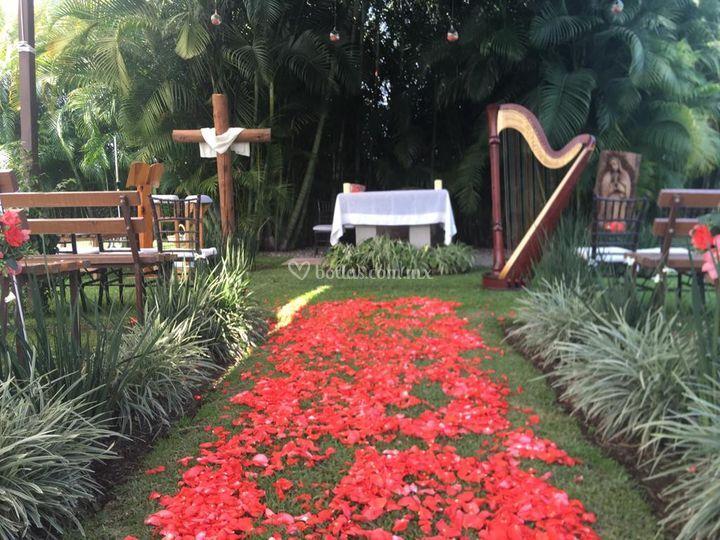 Ceremonia religiosa arpa