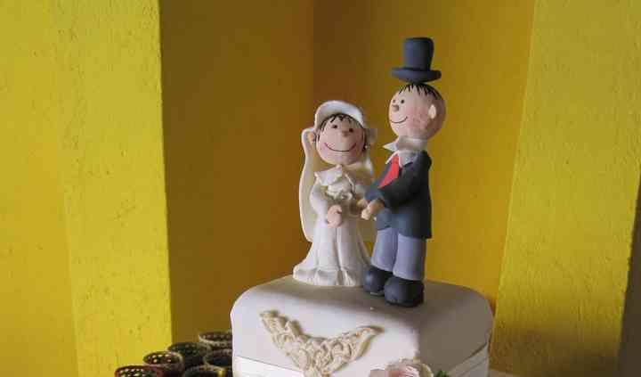 Pastel boda cuadrado