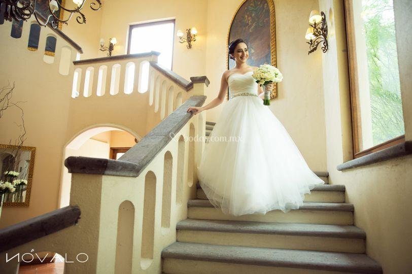 Novia en Villa Antigua