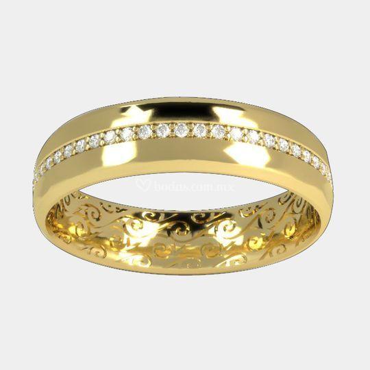 Argolla de matrimonio oro 14k