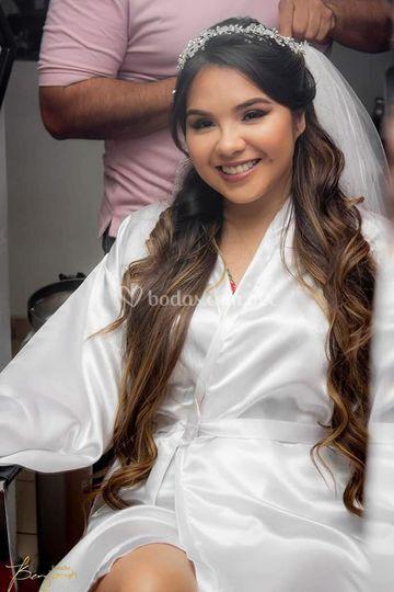 Bata novia para makeup