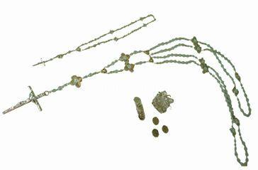 Lazo de cristal y rosario