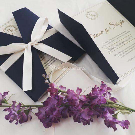 Invitación clásica y elegante