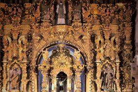Jarrones iluminados iglesia