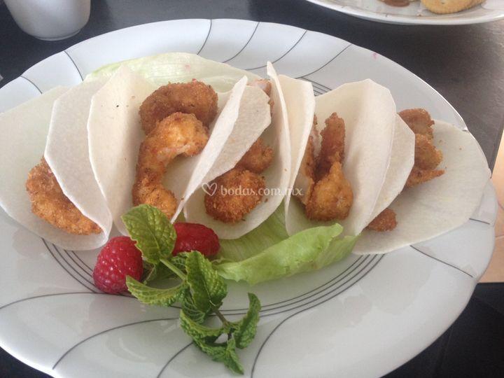 Tacos de jicama