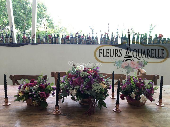 Matrimonio Tema Invernal : Fleurs aquarelle
