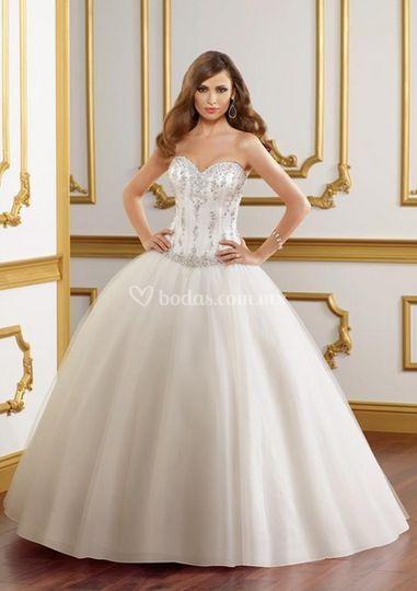 vestido estilo corset de novias mayra | foto 14