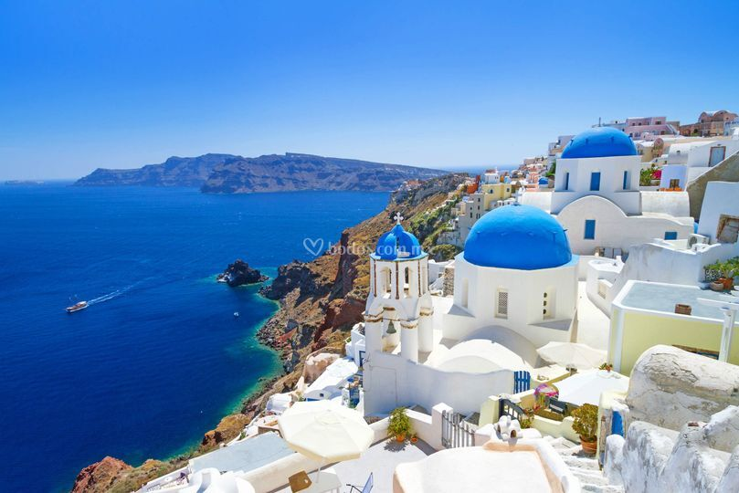 Santorini, Grecia, romántica