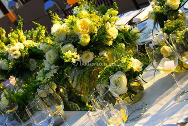 Catering y arreglos florales