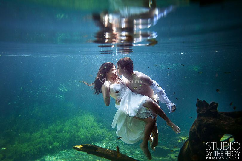 Trash the dress de cenote