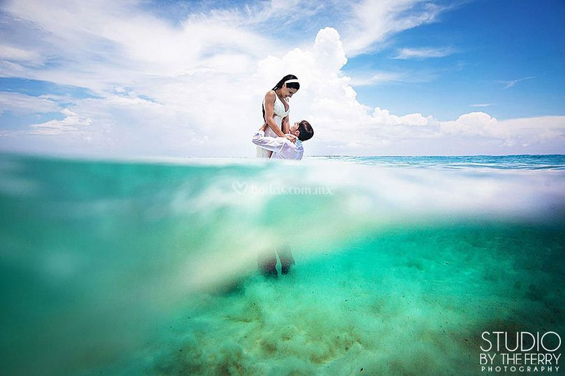 Trash the dress en Tulum