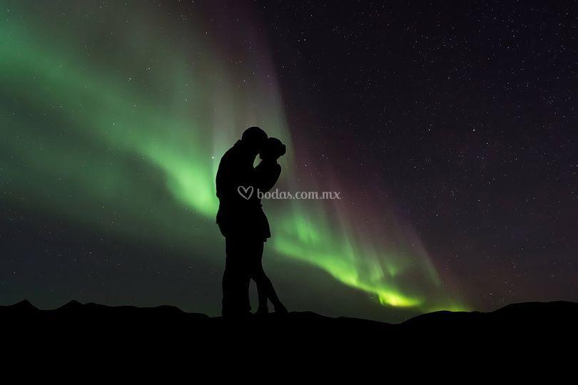 Amor en las Auroras Boreales
