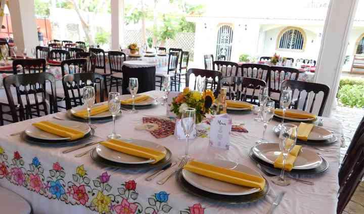 Mesa boda maya