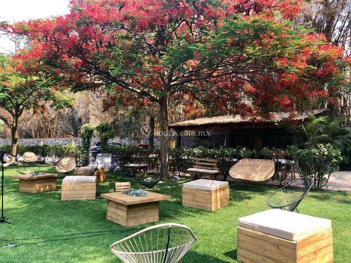 Decoración mobiliario jardín