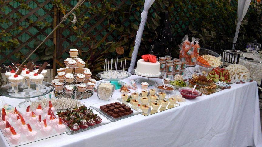 Tiernos detalles for Mesa de dulces para boda