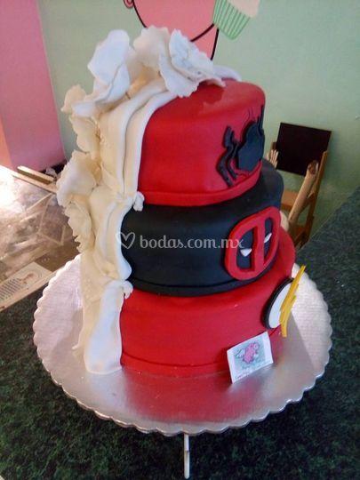 Pastel boda mitad