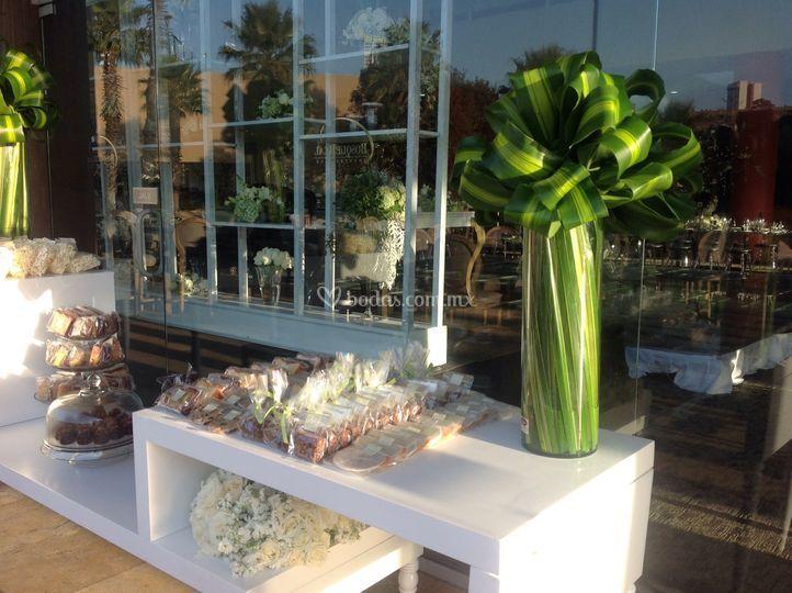 Diseño fresco mesa de dulces