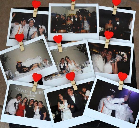 Polaroid boda Myri y Alan