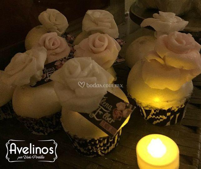 Cupcakes fondant para boda