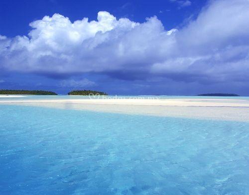 Playa con brisa del mar