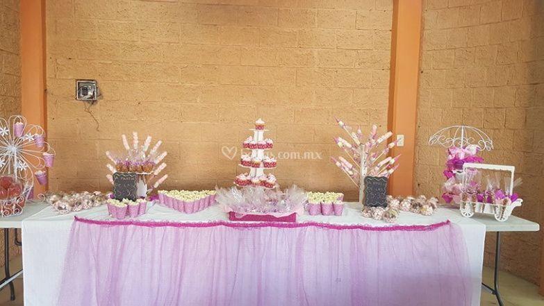 Área para el pastel