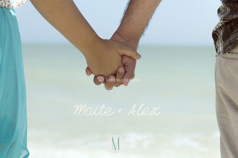 Maite+Alex Sesión en playa