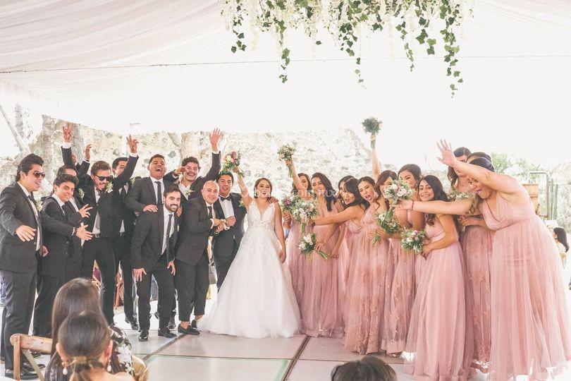 Bridemaids & groomans