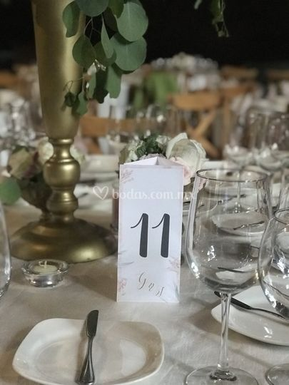 Importante el número de mesa