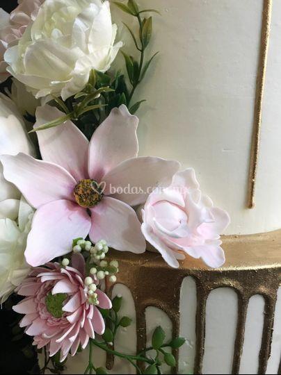 Detalles de flores comestibles