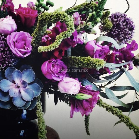 Flores para entrada de salón
