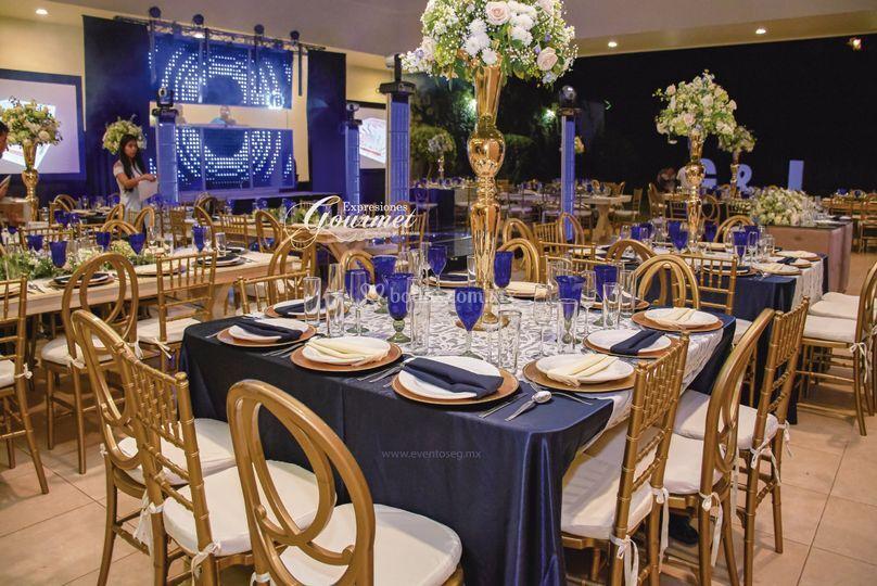 Mesas combinadas-copa azul