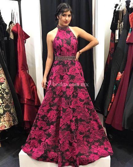 Vestido tela Jacquard