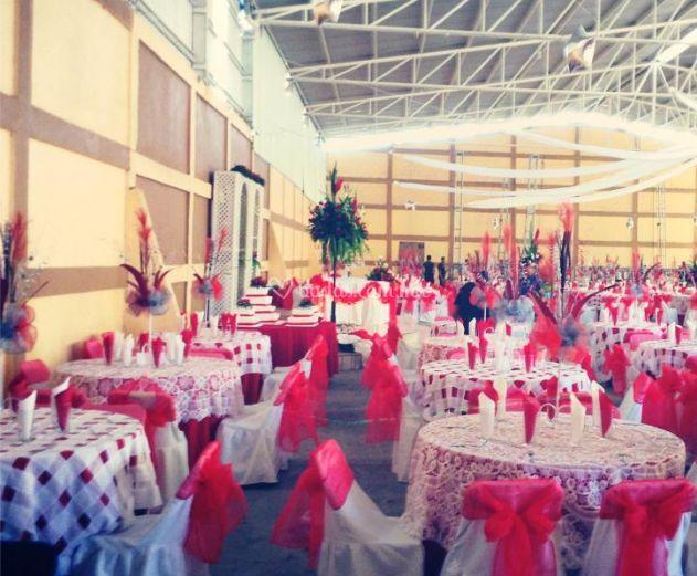 Hermosa decoración en rojo