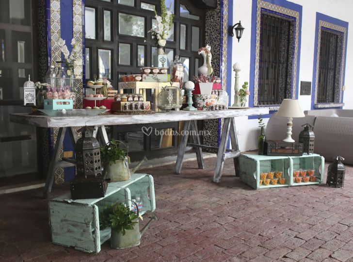 Mesa de dulces postras shabby chic vintage quotes - Mesa shabby chic ...