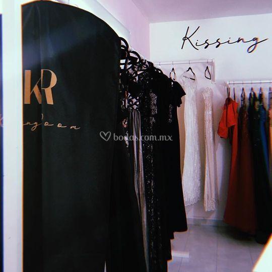 Show room kissing