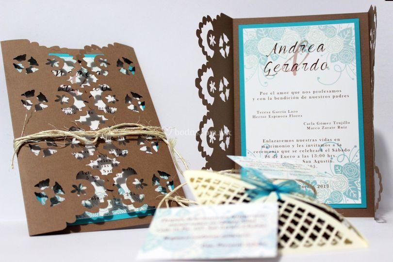 Invitación rústica