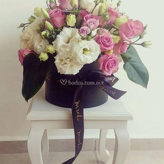 Cajita floral - Centro de mesa